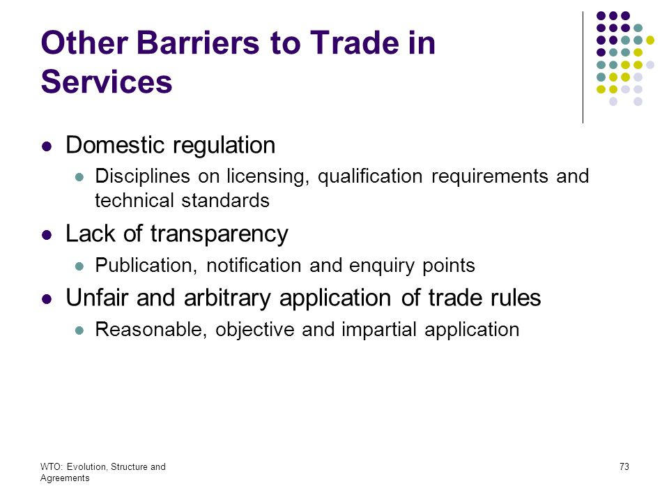 Other Barriers to Trade in Services