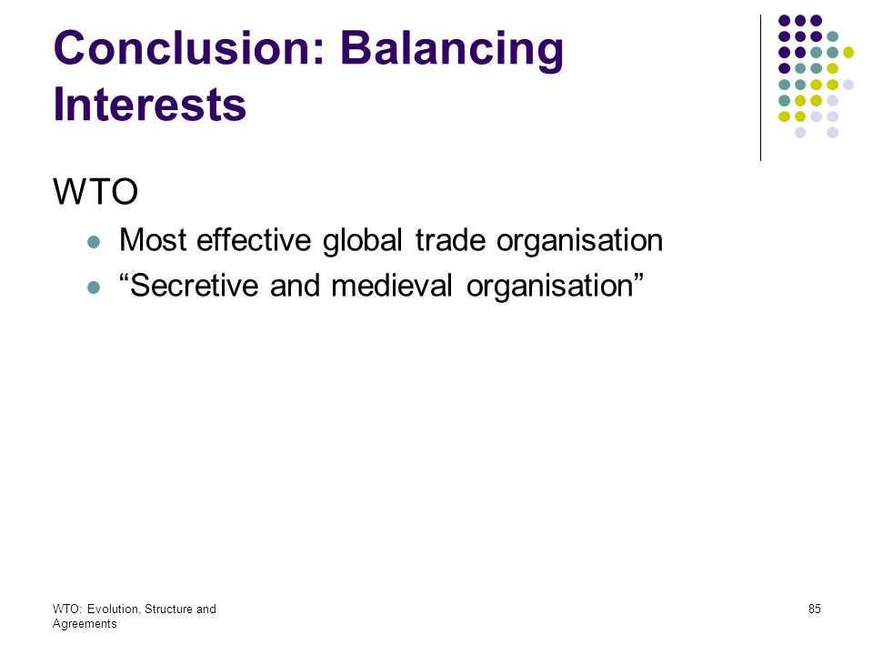 Conclusion: Balancing Interests