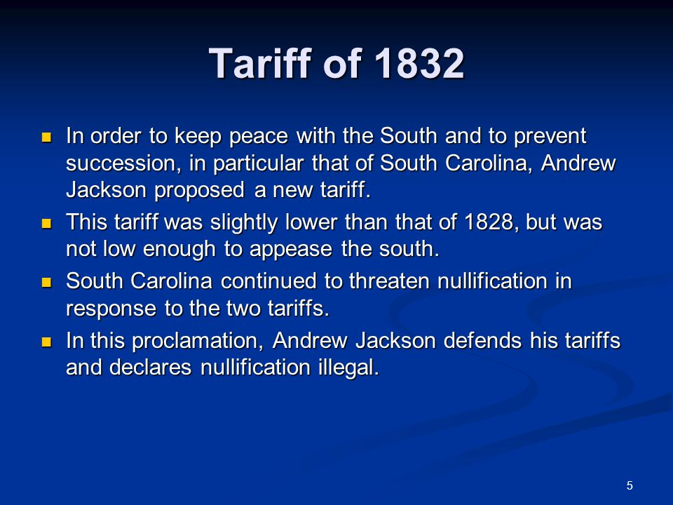 Tariff of 1832