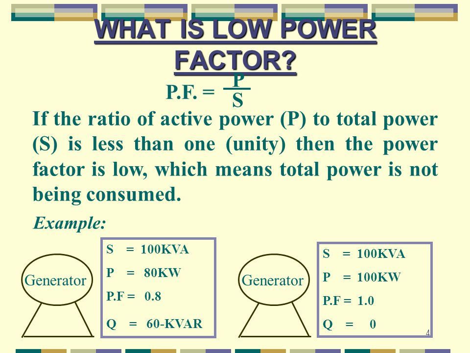 WHAT IS LOW POWER FACTOR