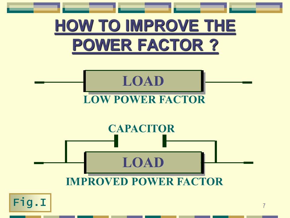 HOW TO IMPROVE THE POWER FACTOR