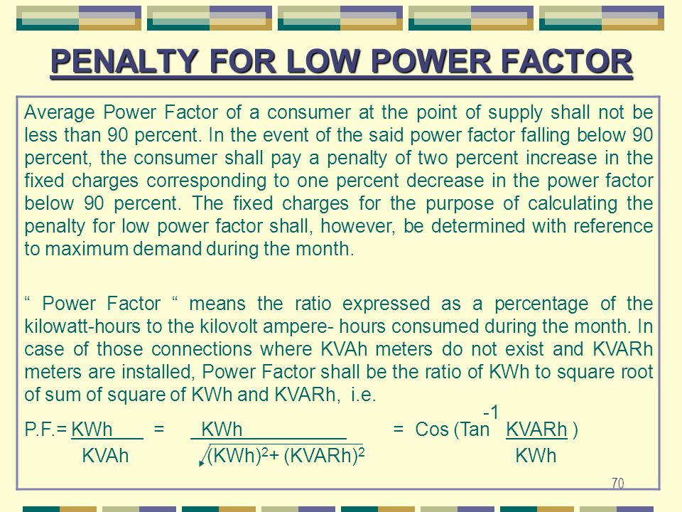 PENALTY FOR LOW POWER FACTOR
