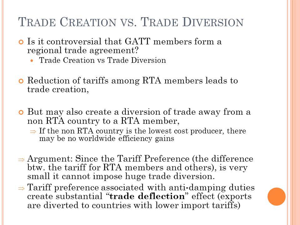 Trade Creation vs. Trade Diversion