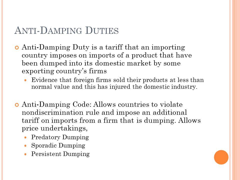 Anti-Damping Duties