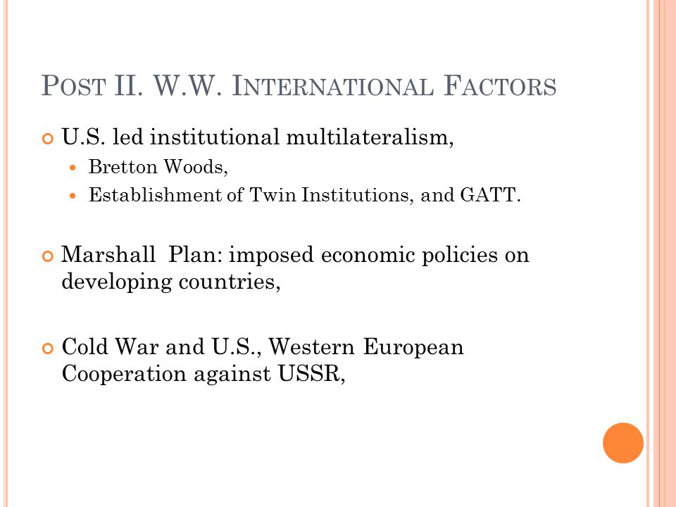 Post II. W.W. International Factors