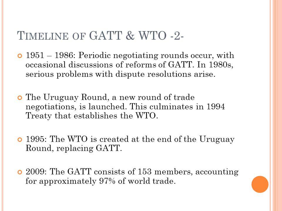 Timeline of GATT & WTO -2-