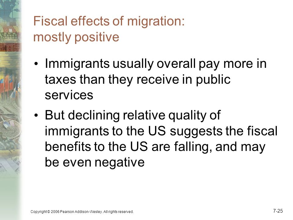 Fiscal effects of migration: mostly positive