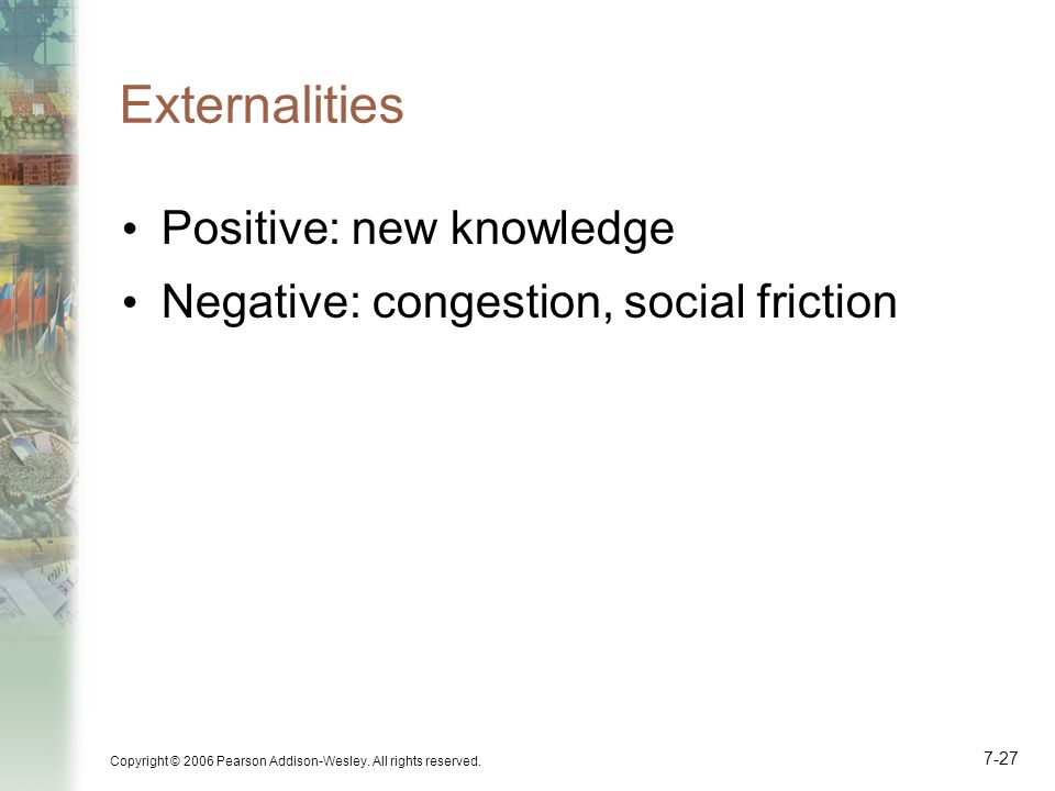 Externalities Positive: new knowledge