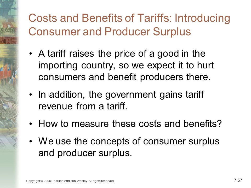 Costs and Benefits of Tariffs: Introducing Consumer and Producer Surplus