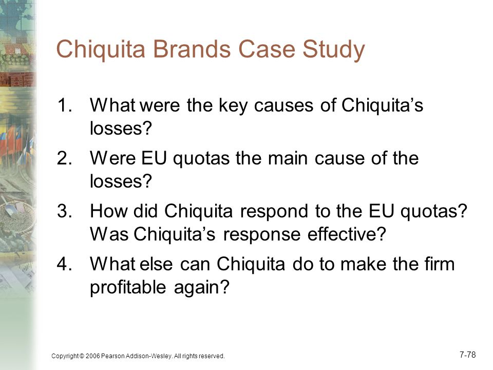 Chiquita Brands Case Study
