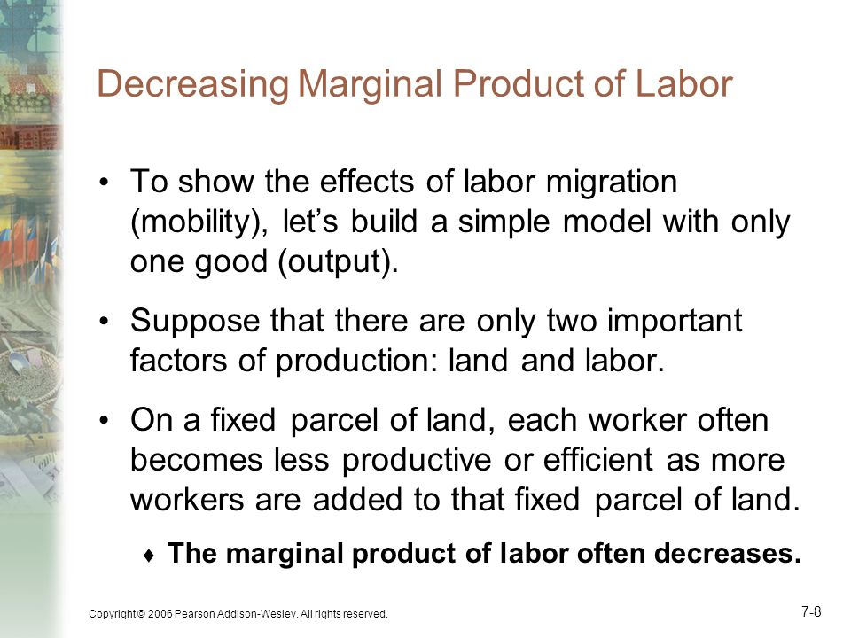 Decreasing Marginal Product of Labor