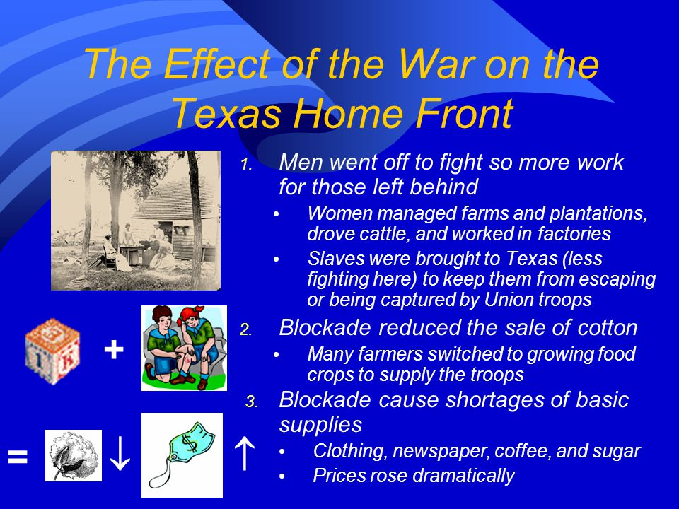 The Effect of the War on the Texas Home Front