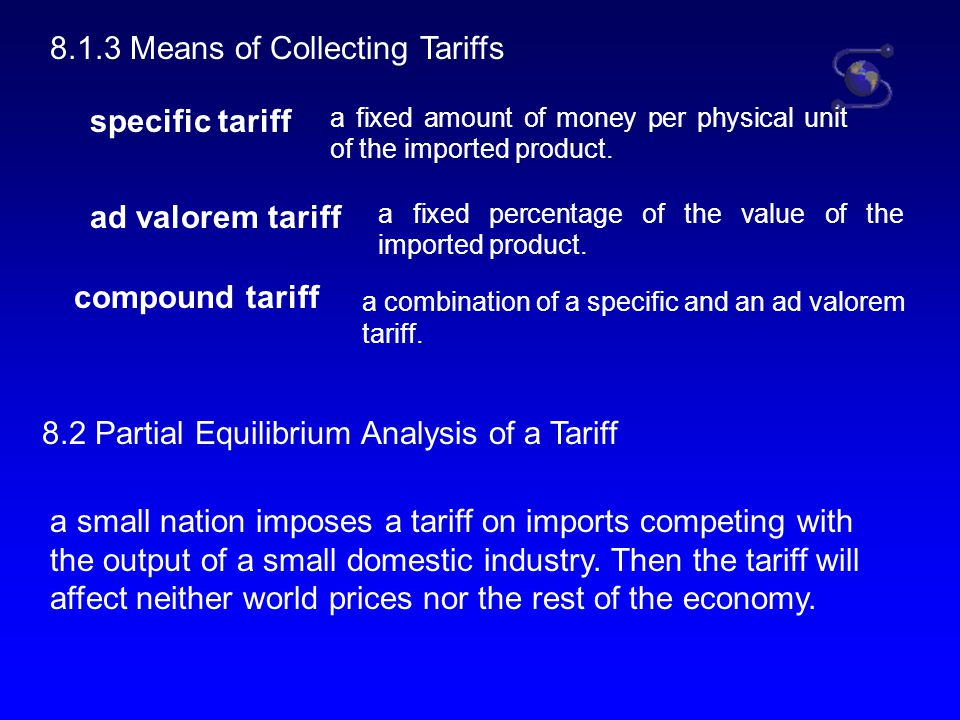 8.1.3 Means of Collecting Tariffs