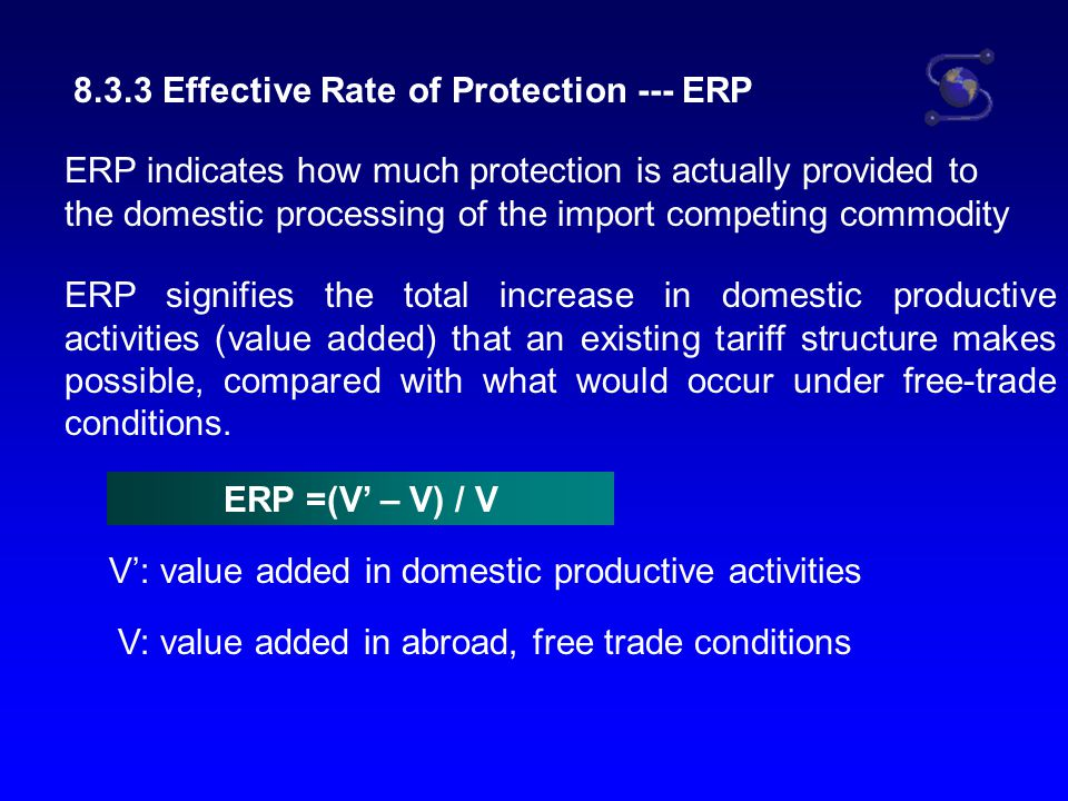 8.3.3 Effective Rate of Protection --- ERP