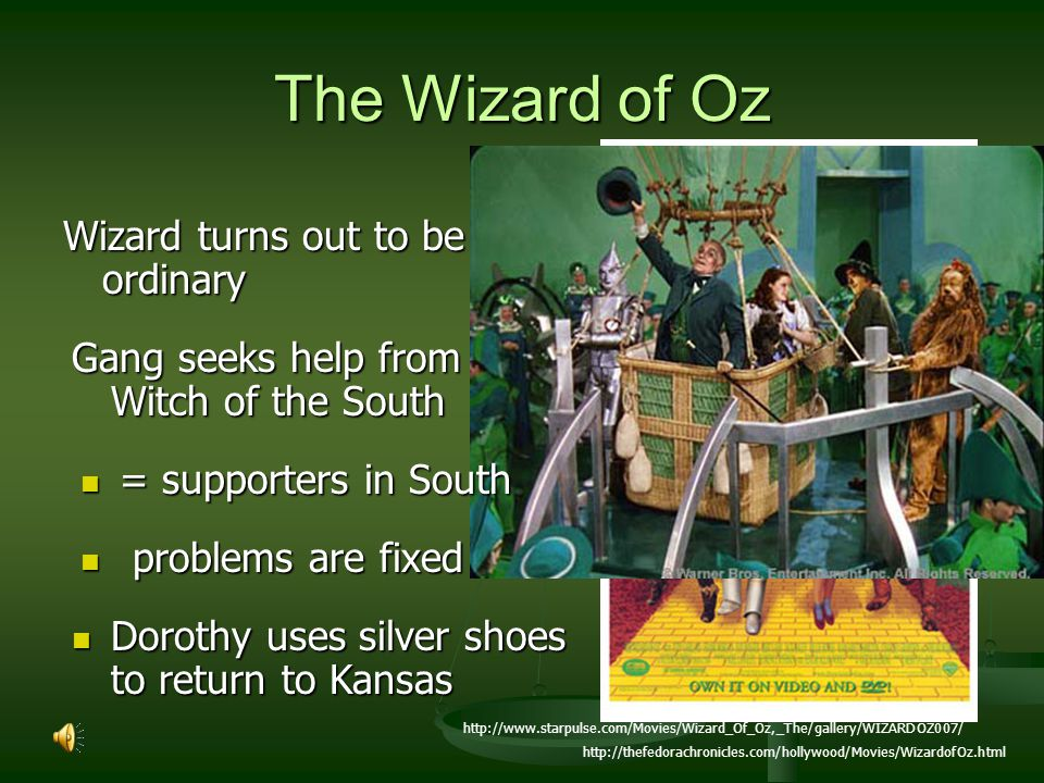 The Wizard of Oz Wizard turns out to be ordinary