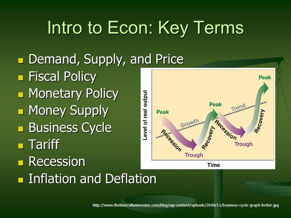 Intro to Econ: Key Terms