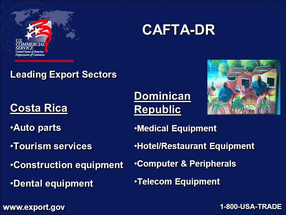 CAFTA-DR Dominican Costa Rica Republic Leading Export Sectors
