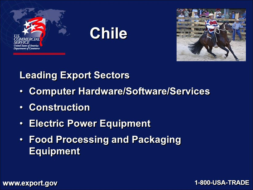 Chile Leading Export Sectors Computer Hardware/Software/Services
