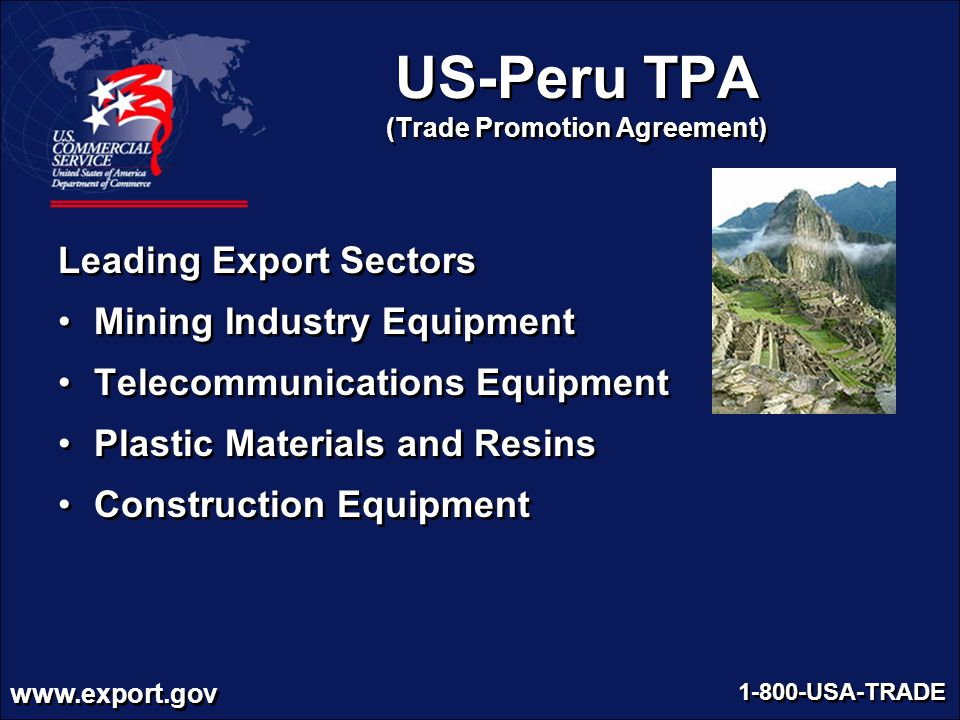 US-Peru TPA (Trade Promotion Agreement)