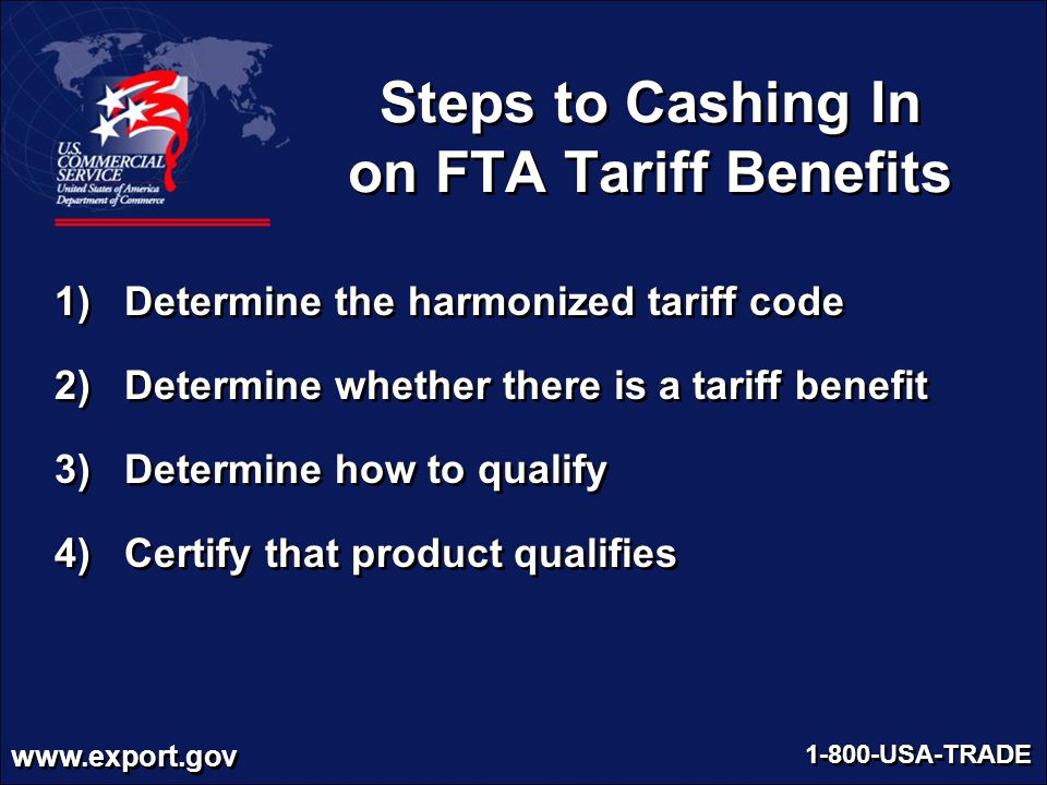 Steps to Cashing In on FTA Tariff Benefits