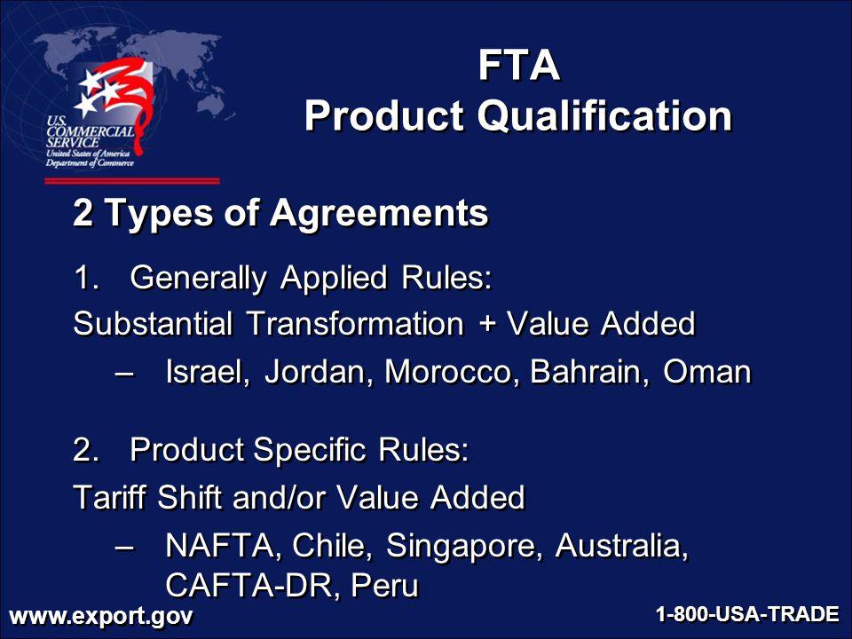 FTA Product Qualification