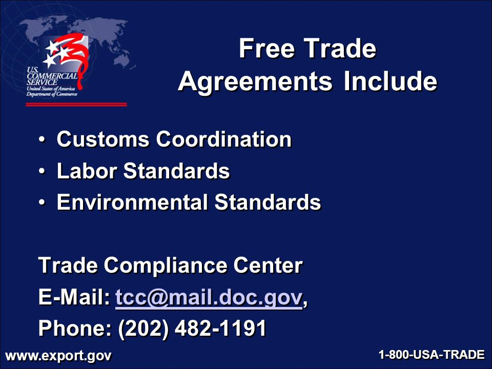 Free Trade Agreements Include