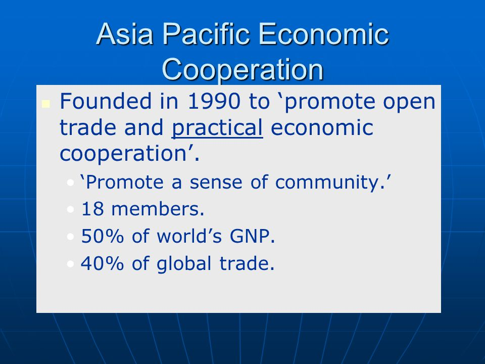 Asia Pacific Economic Cooperation