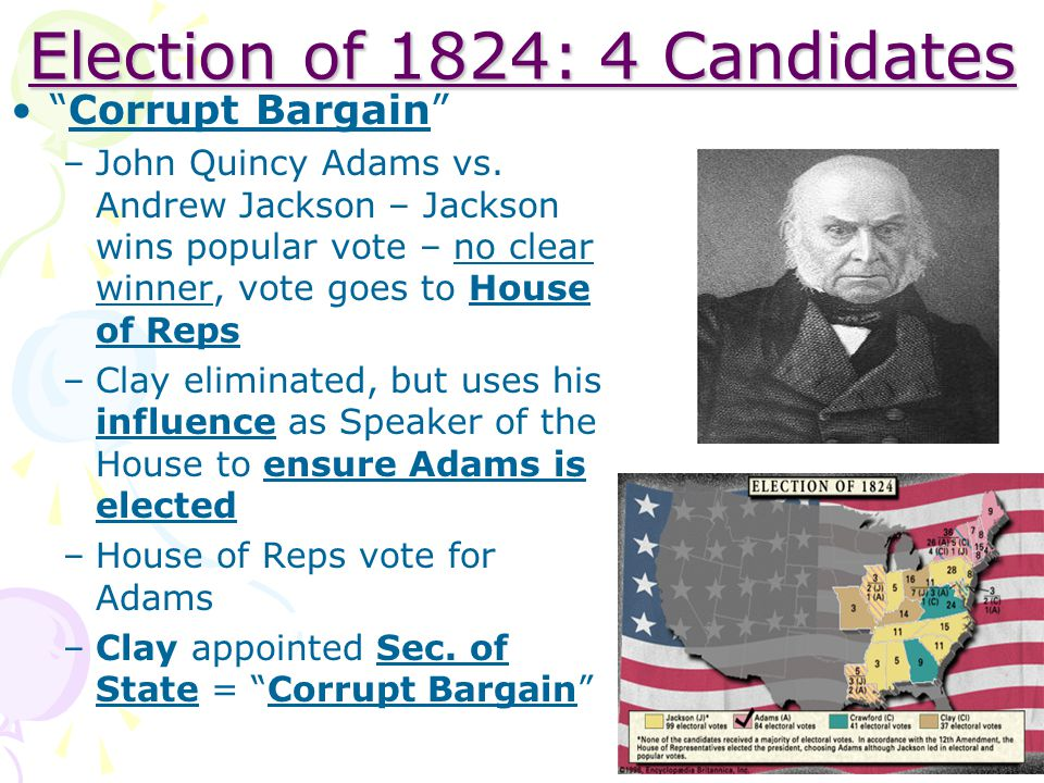 Election of 1824: 4 Candidates