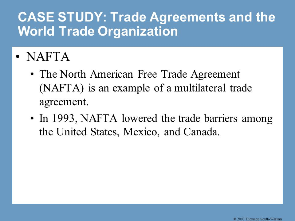 trade agreements and world trade organi Every practitioner of international trade law, and every serious student of trade law and policy, should read gary horlick's new book, world trade organization and international trade law: antidumping, subsidies and trade agreements mr horlick is truly one of the giants in this field.