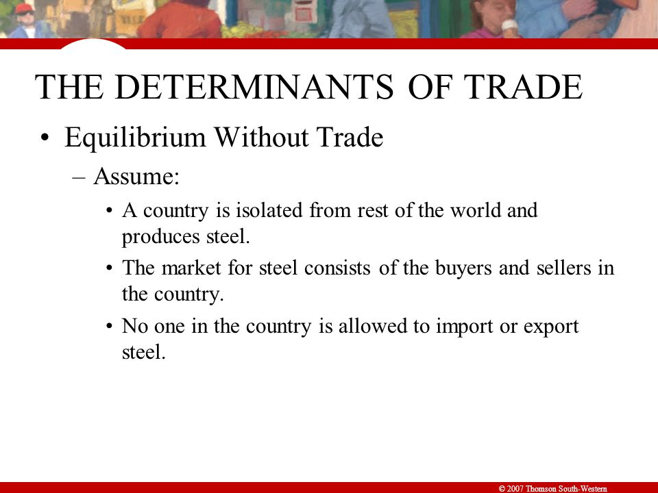 Figure 1 The Equilibrium without International Trade
