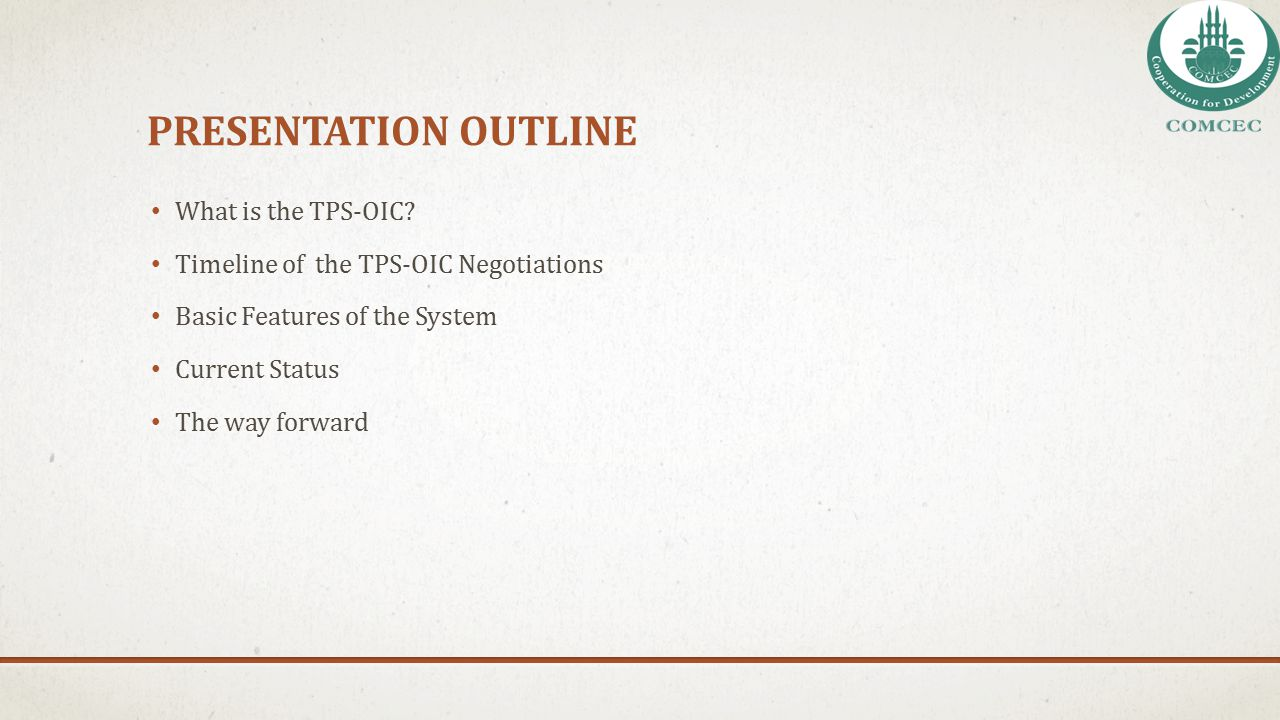 PresentatIon outlIne What is the TPS-OIC