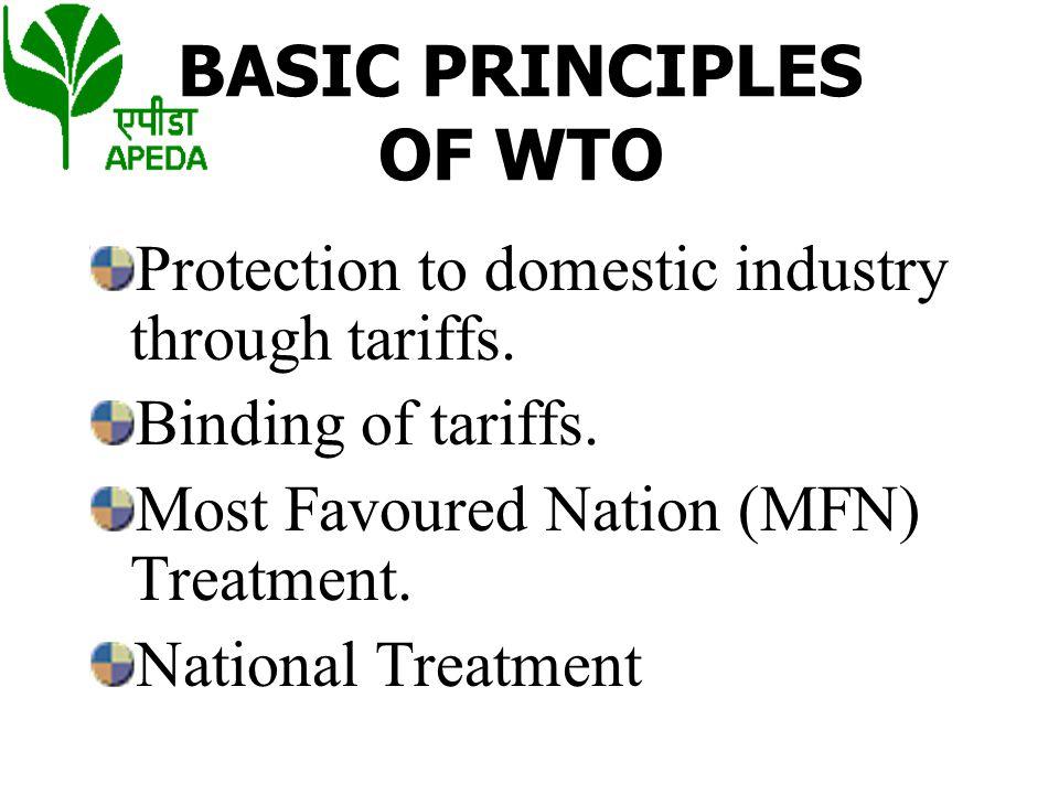 BASIC PRINCIPLES OF WTO