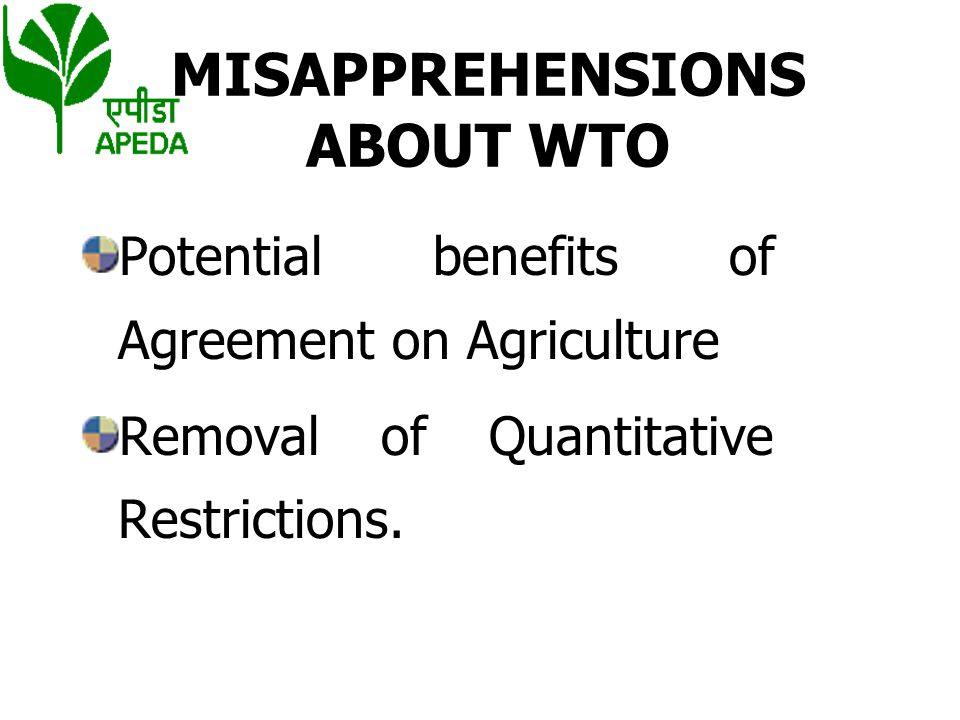 MISAPPREHENSIONS ABOUT WTO