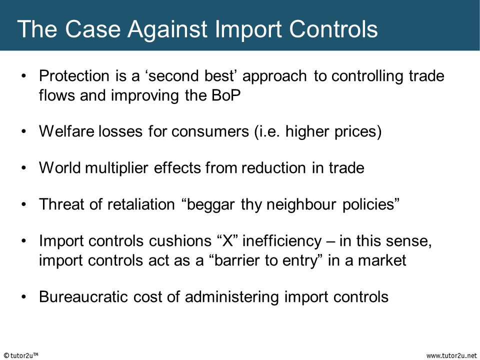 The Case Against Import Controls
