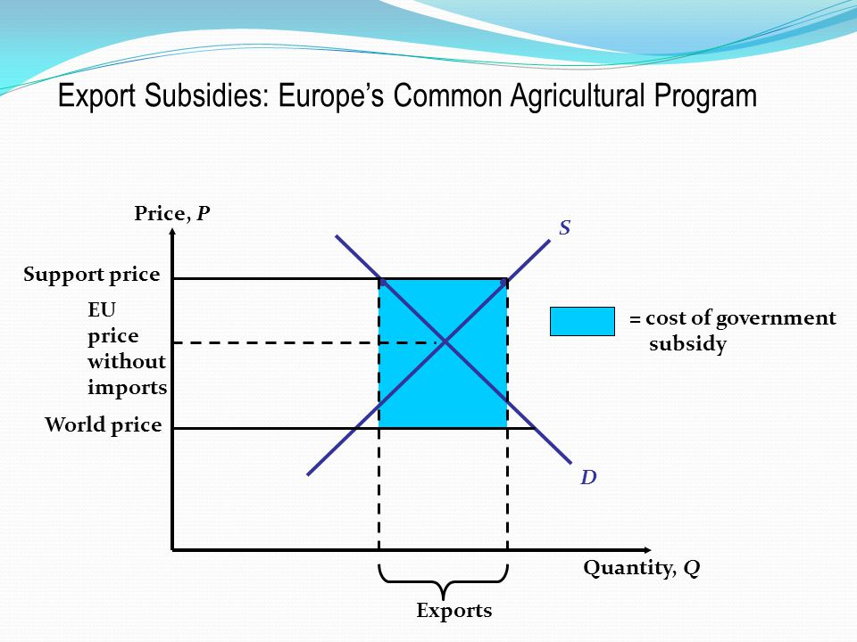 Export Subsidies: Europe's Common Agricultural Program