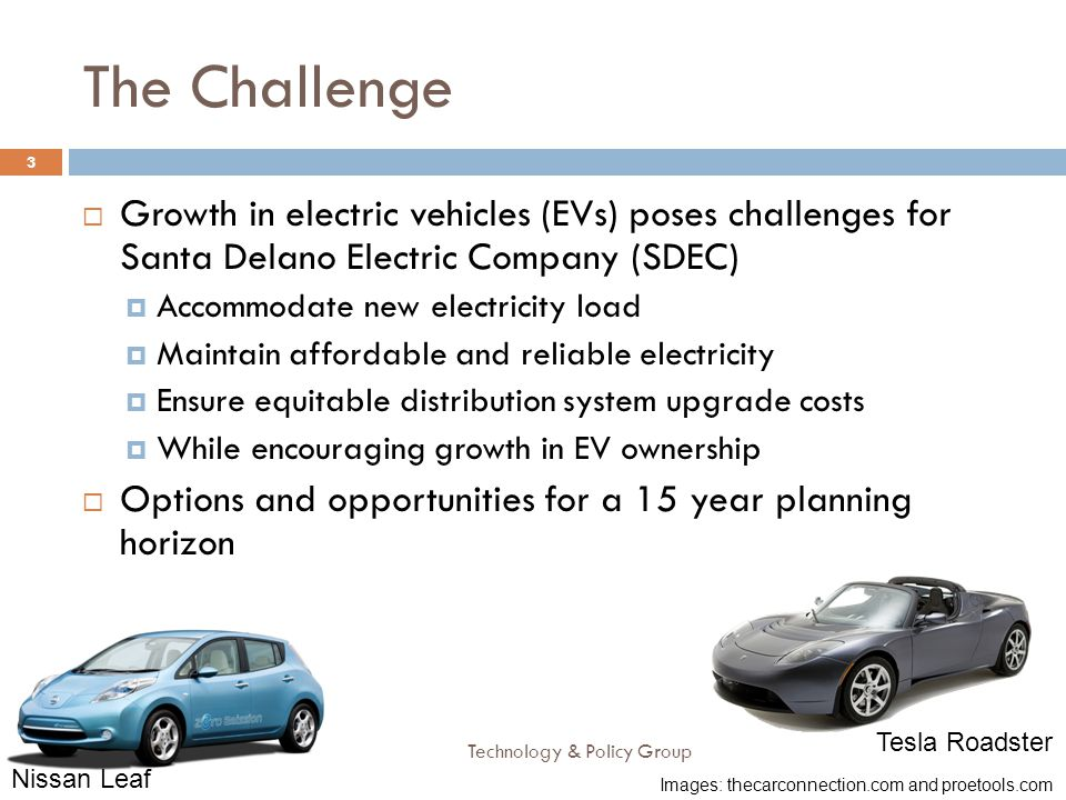 The Challenge Growth in electric vehicles (EVs) poses challenges for Santa Delano Electric Company (SDEC)