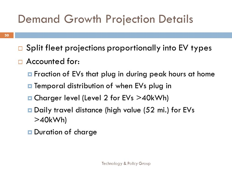 Demand Growth Projection Details