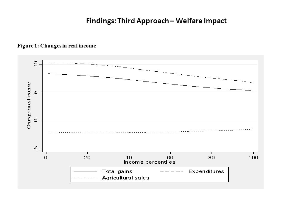 Findings: Third Approach – Welfare Impact