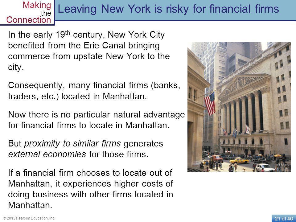 Leaving New York is risky for financial firms