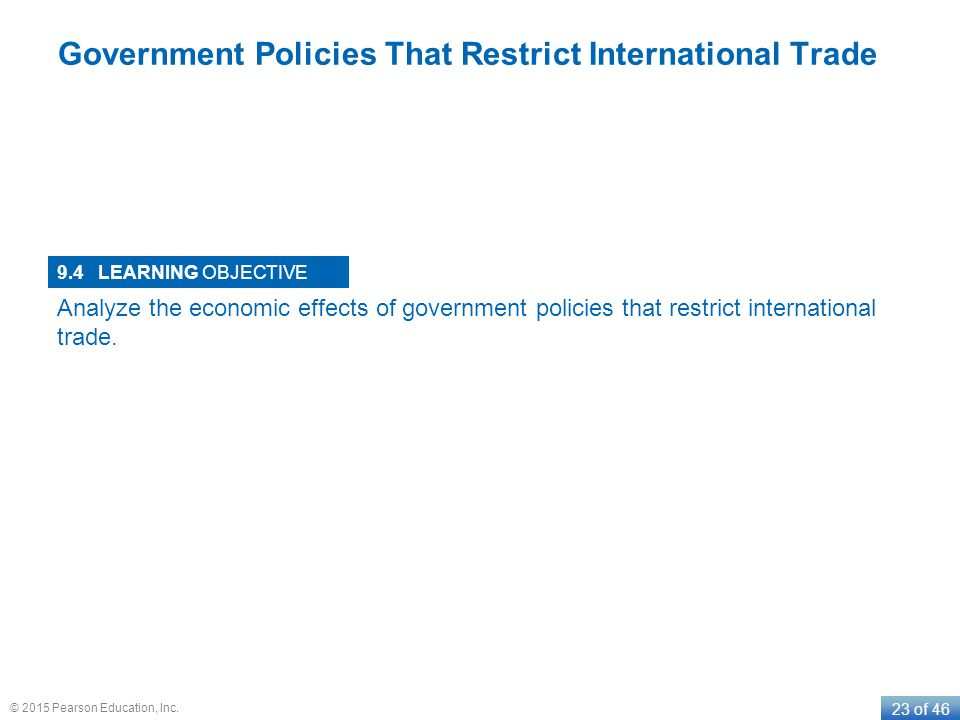 Government Policies That Restrict International Trade