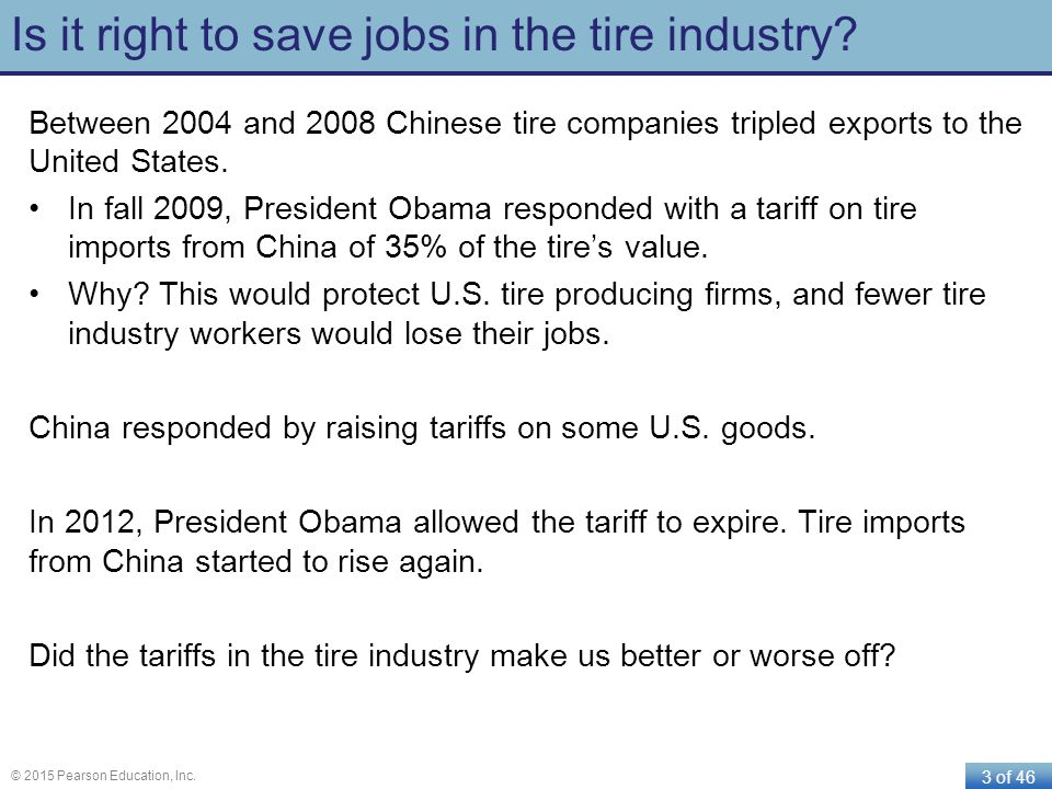 Is it right to save jobs in the tire industry