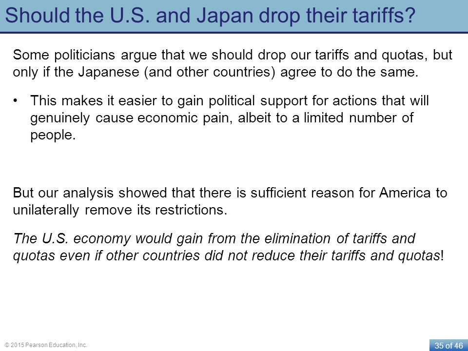 Should the U.S. and Japan drop their tariffs