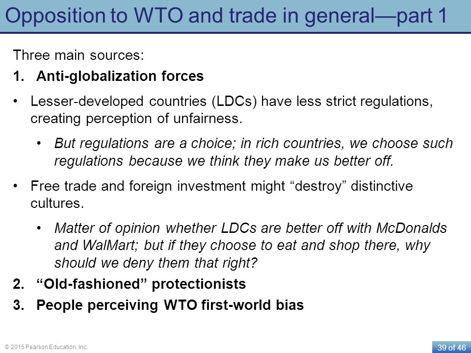 Opposition to WTO and trade in general—part 1