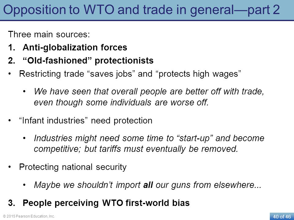 Opposition to WTO and trade in general—part 2
