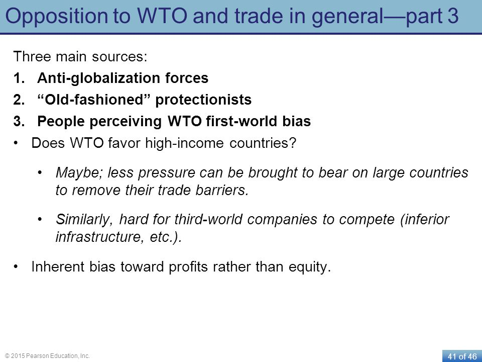 Opposition to WTO and trade in general—part 3