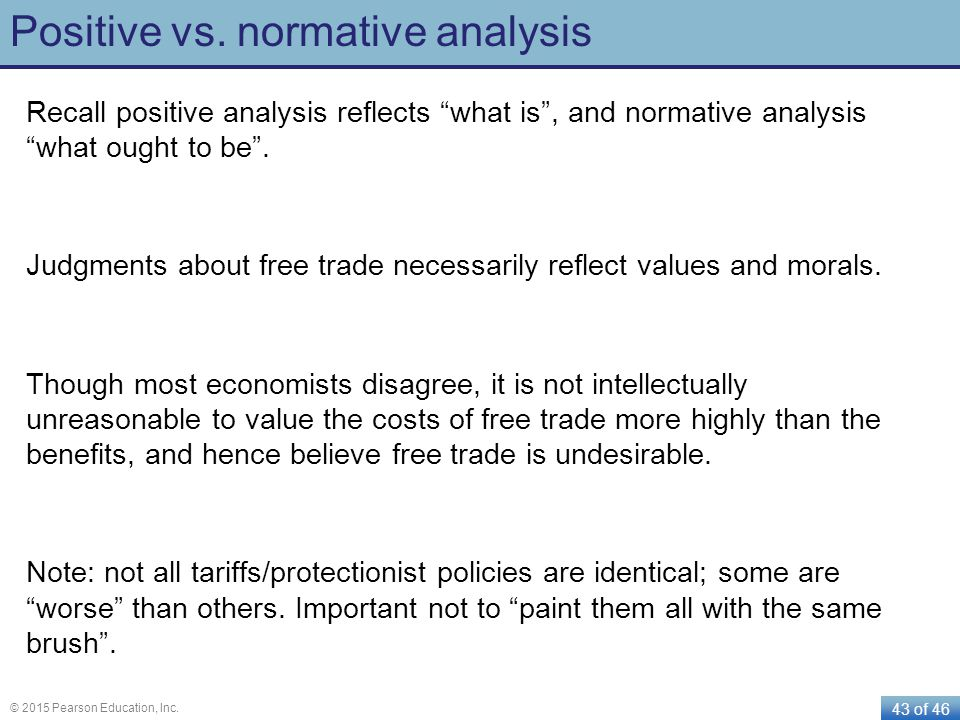 Positive vs. normative analysis