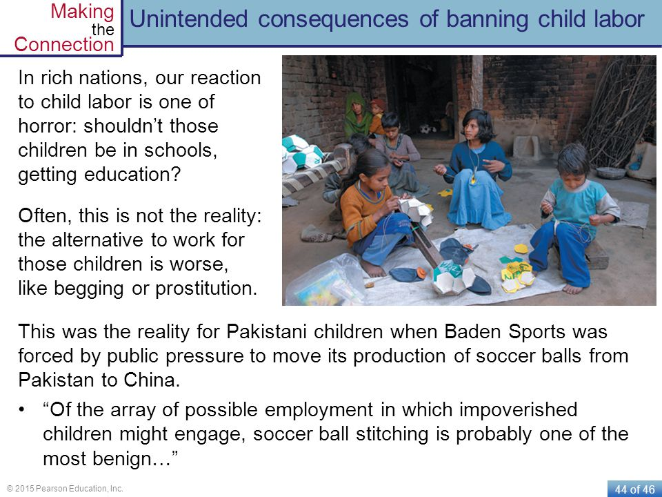 Unintended consequences of banning child labor