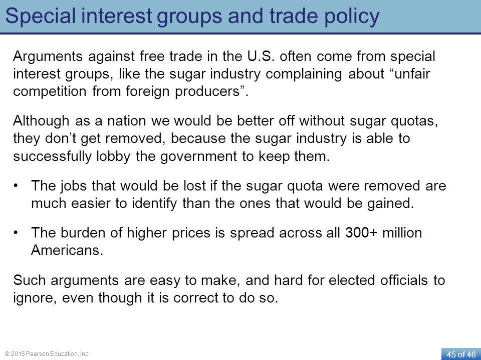 Special interest groups and trade policy