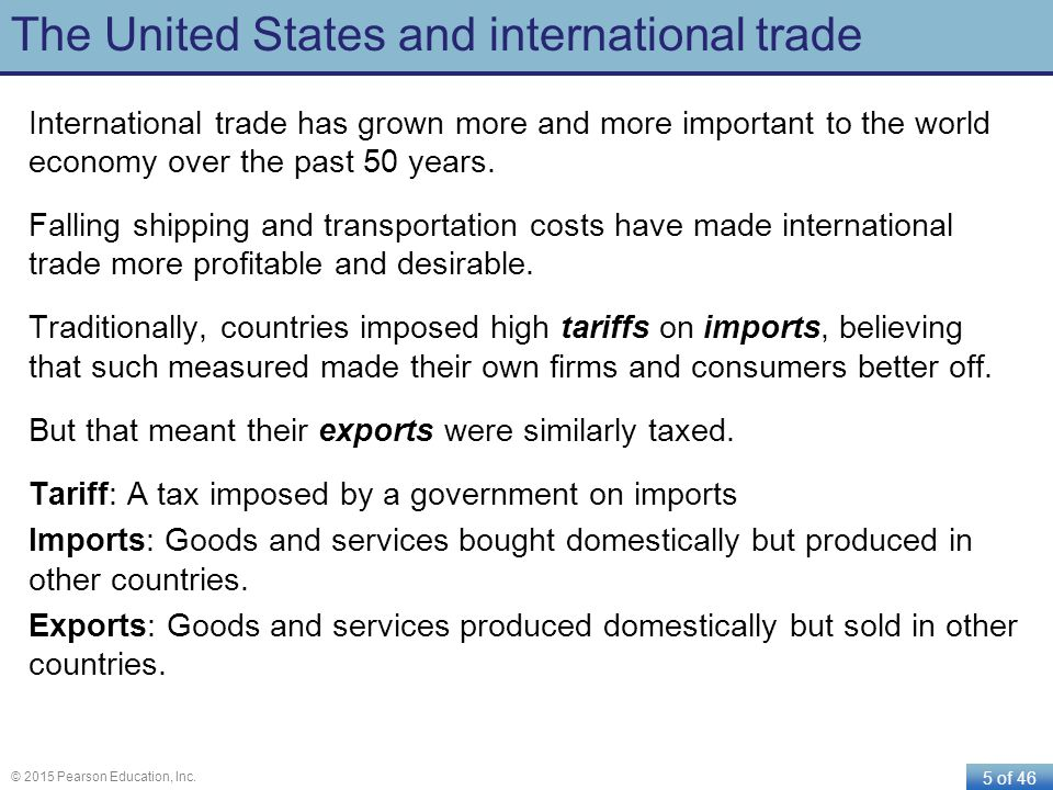The United States and international trade