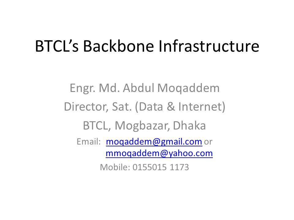 BTCL's Backbone Infrastructure